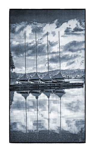 Four boats poster